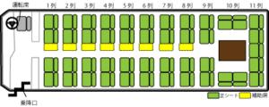 53席(シングルサロン)座席表