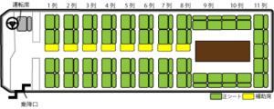 53席(ダブルサロン)座席表