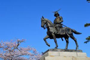 仙台城跡伊達政宗像
