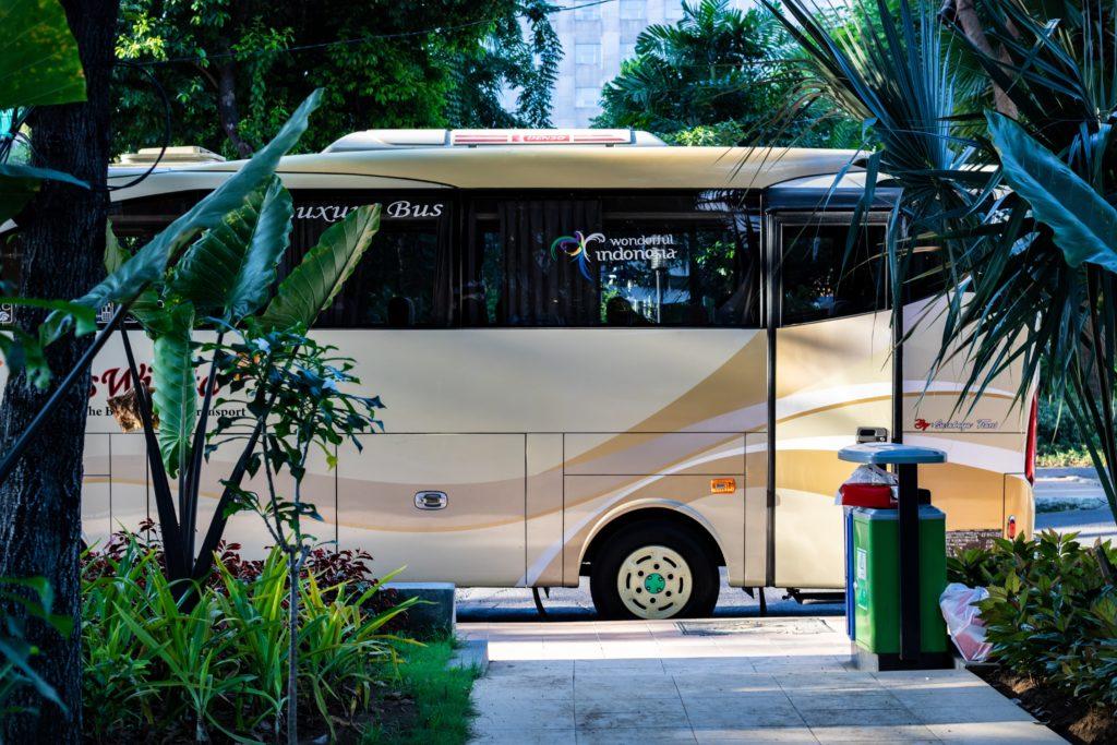 合宿のバス