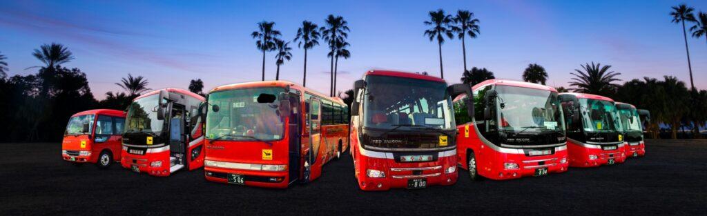 みやざき高山観光バスのバス集合写真